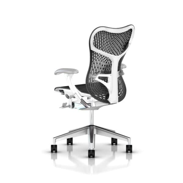 herman miller mirra bureaustoel wit frame