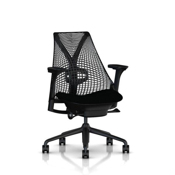 zwarte sayl bureaustoel
