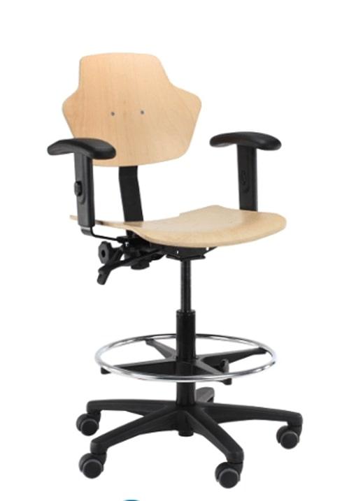 Houten werkstoelen