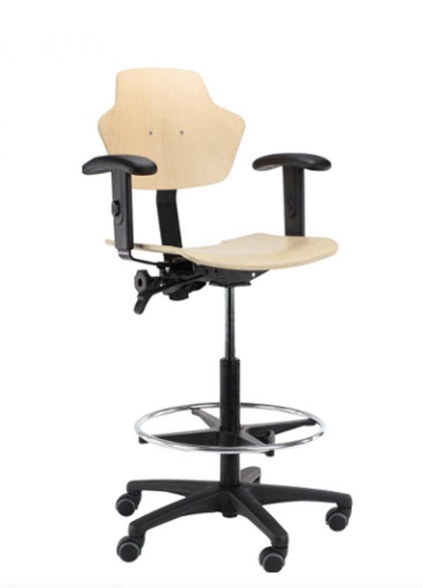 Werkstoel hout